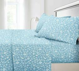 floral sheets 4 piece set 1800 count