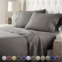 4 Piece Bed Sheet Set Egyptian Comfort 1800 Count -Deep Pock