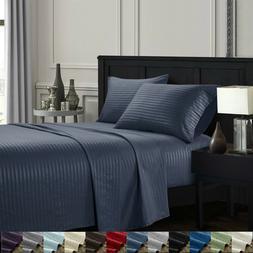 Egyptian Comfort 4 Pcs Deep Pocket Queen King Size Bed Sheet