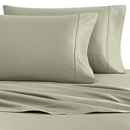 Wamsutta 400-Thread-Count Sateen King Pillowcases in Sage Gr