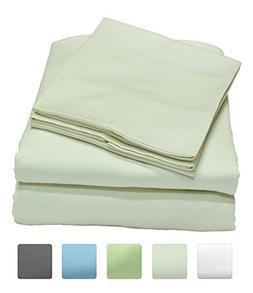 400 Thread Count 100% Long Staple Cotton Sheet Set, Soft & S