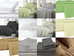 400 Thread Count 100% Egyptian Cotton 4 Piece Sheet Set ,15