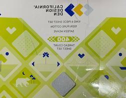 California Design Den 400-Thread Count KING 100% Cotton 6 Pi