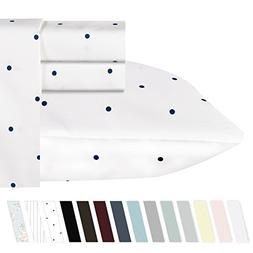 California Design Den 400-Thread-Count 100% Pure Cotton Shee