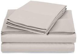 AmazonBasics 400 Thread Count Sheet Set, 100% Cotton, Sateen