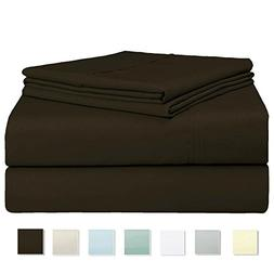 Pizuna Linens 400 Thread Count Sheet Set, 100% Long Staple C