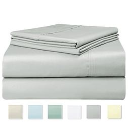 Pizuna Linens 400 Thread Count Sheet Set, 100% Long-staple C