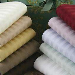 4pc Striped Bed Sheet Set All Colors Sizes 1000 Thread Count