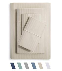 Feather & Stitch 500 Thread Count 100% Cotton Sheet Set, Str