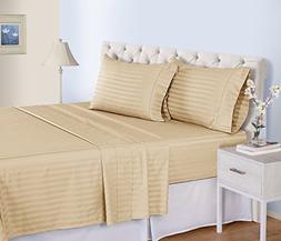 500 Thread Count Cotton Sheets Set - 100 Pima Cotton Pure Sa