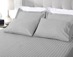 Threadmill Home Linen 500 Thread Count Damask Stripe Cotton