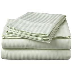 Vivendi 500- Thread Count Supima Cotton Damask Stripe 4 Piec