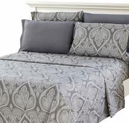 Deep Pocket 6 Piece Bed Sheet Set 1800 Series Egyptian Comfo