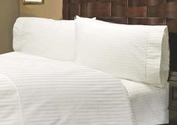 600 Thread Count 100% Egyptian Cotton Stripe White King 24 D