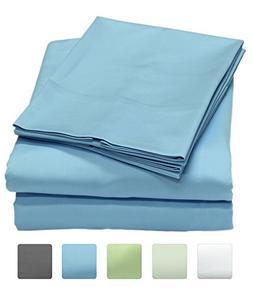 600 Thread Count 100% Long Staple Cotton Sheet Set, Soft & S