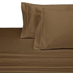 Sheetsnthings 100% Cotton Bed Sheet Set - 600TC, King Solid