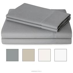 Linenspa 600 Thread Count Ultra Soft, Deep Pocket Cotton Ble