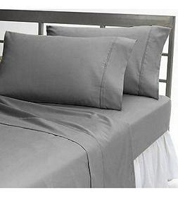 "600TC Super Soft Quality Egyptian Cotton 4PC Sheet Set 24"" I"