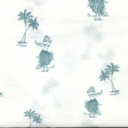 6pc Tommy Bahama KING Sheet Pillowcase Set Waikiki Hula Girl
