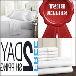 6PC SET NEW Collection Bed Sheets Wrinkle Free Hypoallergeni