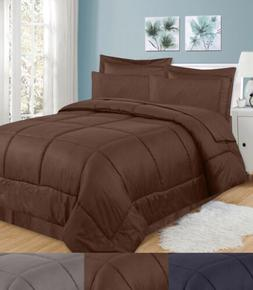 8 Piece Bed In A Bag Greek Key Comforter Sheet Bed Skirt Sha