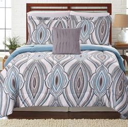 8 Piece Comforter Coverlet Bed Set Elegant Flat Fitted Sheet