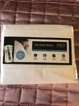 CGK Unlimited 8541811754 Luxury Bed Sheet Set - 4 Piece, Gra