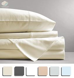 California Cotton Club 600 Thread Count Bed Sheets Set 100%