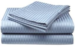 Deluxe Hotel 4-Piece Bed Sheet Set - Dobby Stripe - 100% Cot