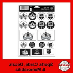 "Los Angeles Kings Vinyl Sticker Sheet 5""x7"" Decals NHL Lice"