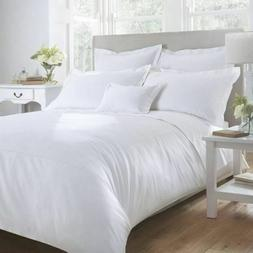 KING SIZE WHITE SOLID BED SHEET SET 1000 THREAD COUNT 100% E