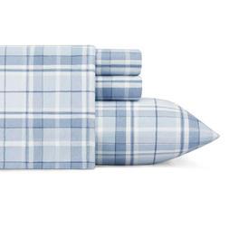 Laura Ashley Mulhollan Blue Pattern 4-pc cotton Soft Flannel