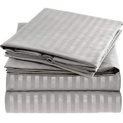 Mellanni Striped Bed Sheet Set - Brushed Microfiber 1800 Bed
