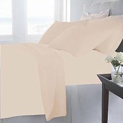 NEW CGK Unlimited 6-Pk Hotel Luxury Bed Sheets - Beige - Siz