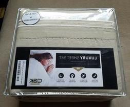 NEW CGK Unlimited King Sheet 6 Piece Set Wrinkle-Free Microf