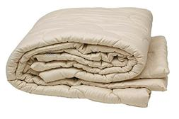 Sleep & Beyond 100 by 86-Inch Organic Merino Wool Comforter,