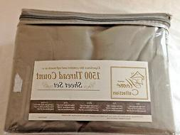Sweet Home Collection - Gray 1500 Threat Count Sheet Set - K