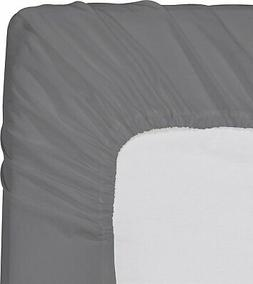 Utopia Bedding Fitted Sheet King,Grey
