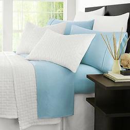 Zen Bamboo Luxury Bed Sheets - King Sky Blue