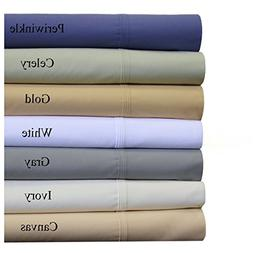 "Abripedic 22"" Deep Pocket Solid White Grey 300TC Sheet Set-"