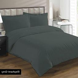 Adjustable King Bed Sheets 5 PCs Grey Solid Egyptian Cotton