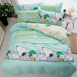 LuDan 3pcs Animal Print Bedding Sheet Set One Duvet Cover Wi