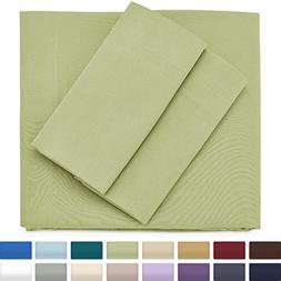 Premium Bamboo Bed Sheets - King Size, Sage Green Sheet Set