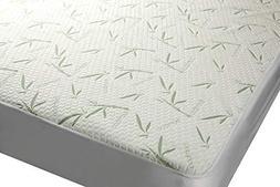 Mezzati Bamboo Premium Plush Mattress Protector - Soft, Quie
