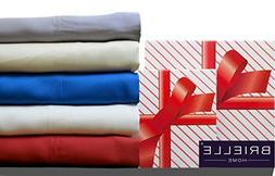 Brielle Bamboo Twill Sheet Set,Comes in a Giftable Box, Cal-