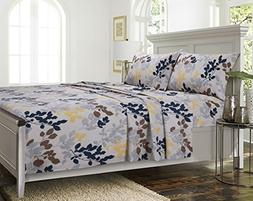Barcelona printed Extra deep Pocket Percale Sheet Set King
