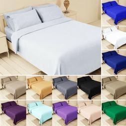Bed Fitted Sheet Set Flat Sheet Pillowcase Bedding Twin XL Q