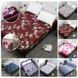 Bed Sheet Floral Printed Cotton Twin Full Queen King Bedding
