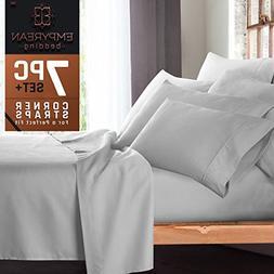 Empyrean Bedding 6 Piece Set - Hotel Luxury Silky Soft Doubl