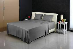 Utopia Bedding Premium 4 Piece Bed Sheet Set  1 Flat Sheet 1